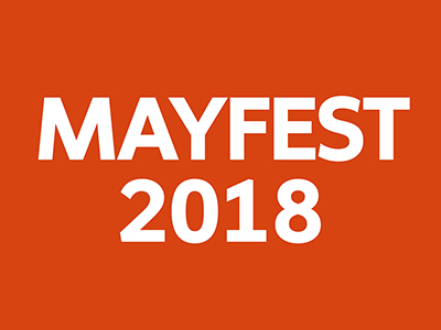 Mayfest 2018 on orange background