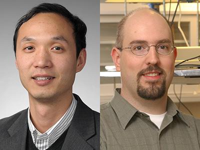 Teng Zhang, left, and Timothy Korter
