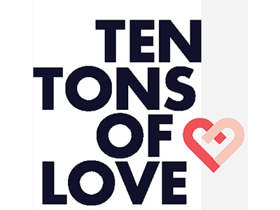 10 Tons of Love logo with pink heart