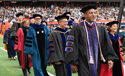Deans marching into Commencement