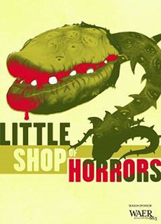 "'Little Shop of Horrors"" poster with illustration of man-eating plant"