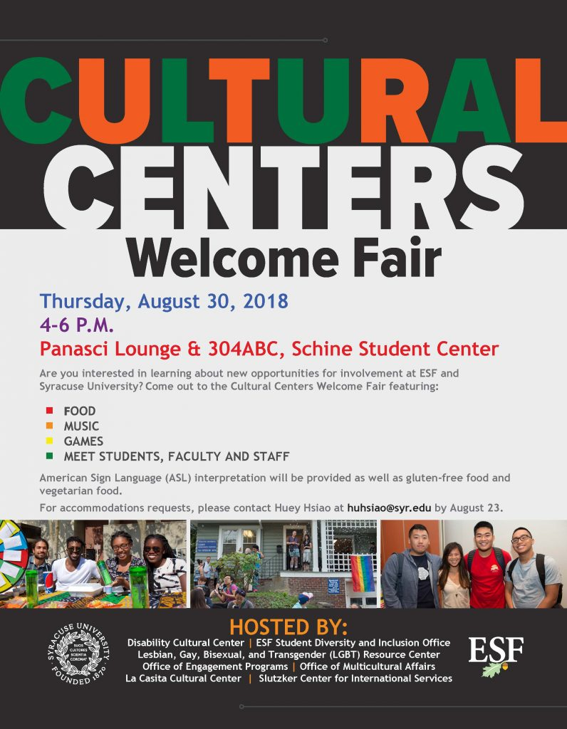 Cultural Centers Welcome Fair poster