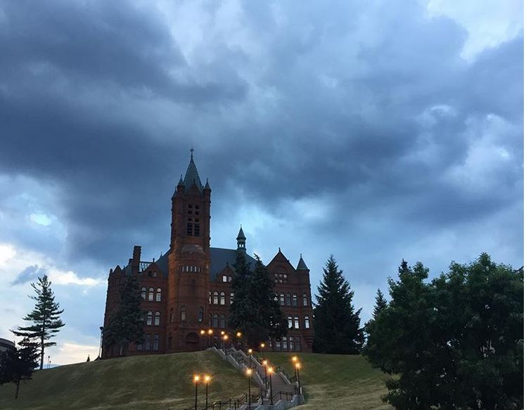 clouds over Crouse College