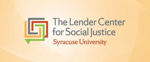 The Lender Center for Social Justice Syracuse University logo