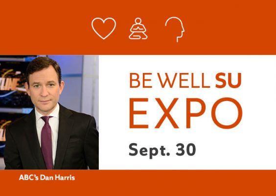 ABCs Dan Harris To Speak At Be Well SU Expo Sept 30 About His Mindfulness Journey Syracuse University News