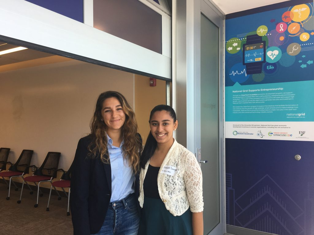 Kayla Simon '19 and Elizabeth Tarangelo '19