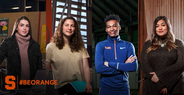 Be Orange campaign graphic with four students.