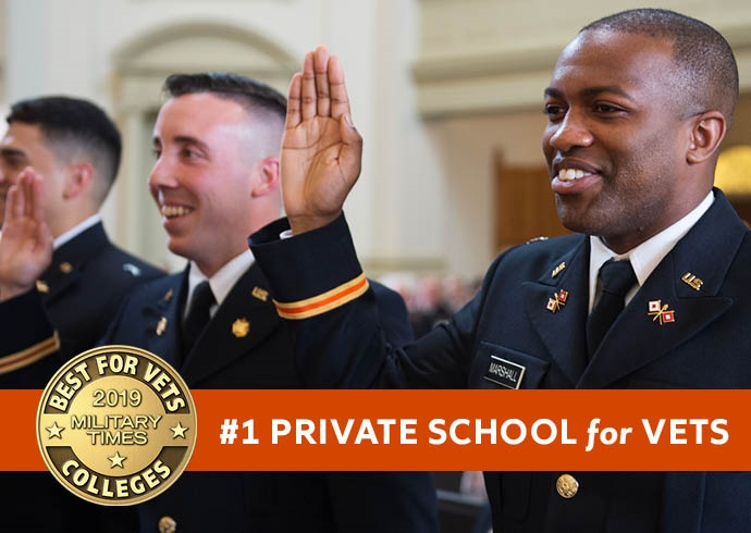 Military Times Names Syracuse No. 1 Private Institution on 2019 Best Colleges for Vets List