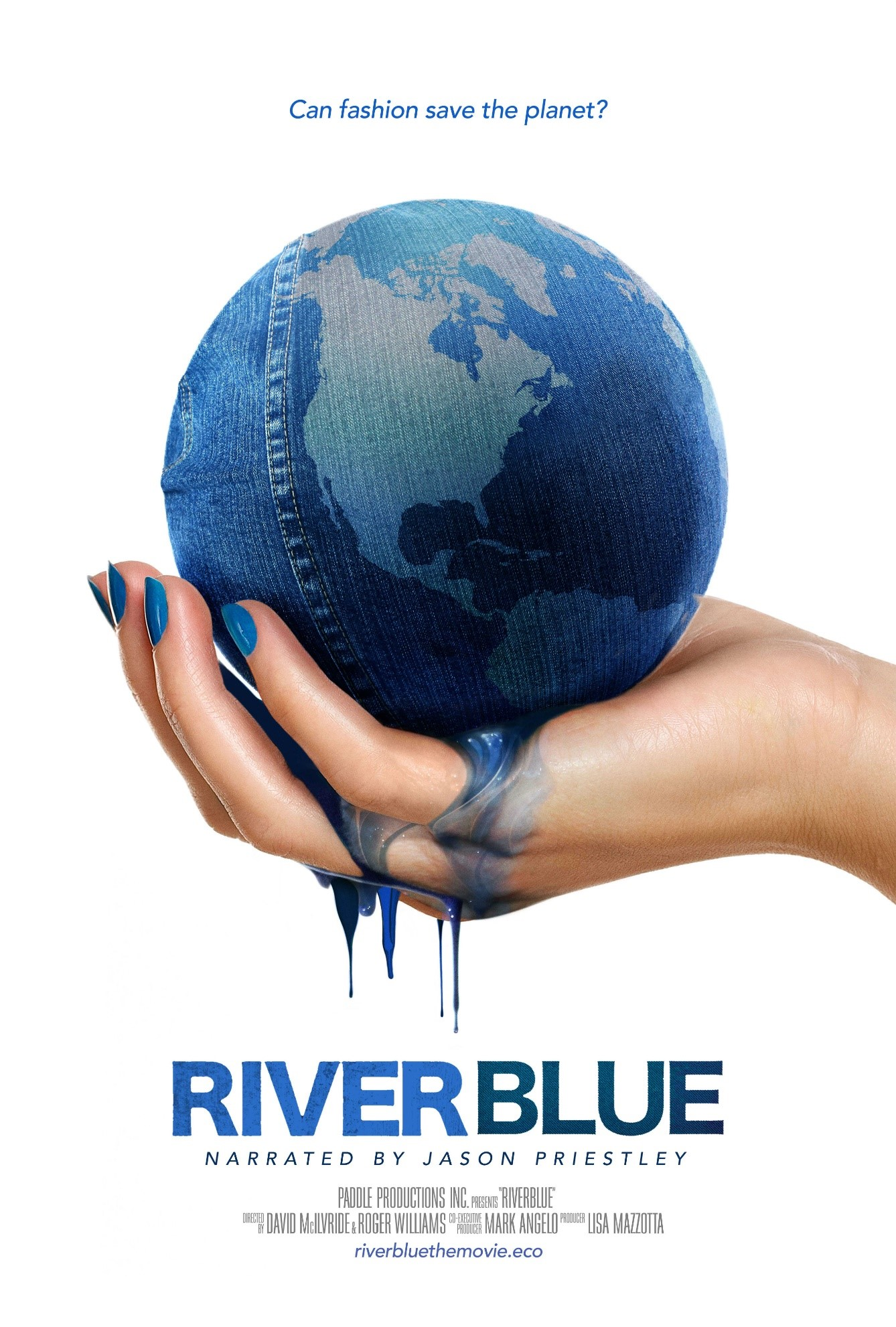 River Blue poster