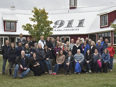 Each year, AUSS members attending the organization's annual conference take an excursion to a local area of interest. This year, the group visited Beak & Skiff Apple Orchards in Lafayette, New York.