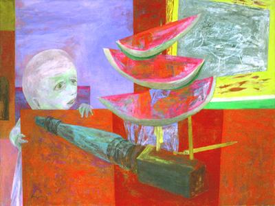 """Yasuo Kuniyoshi's """"Forbidden Fruit"""" (1950)"""