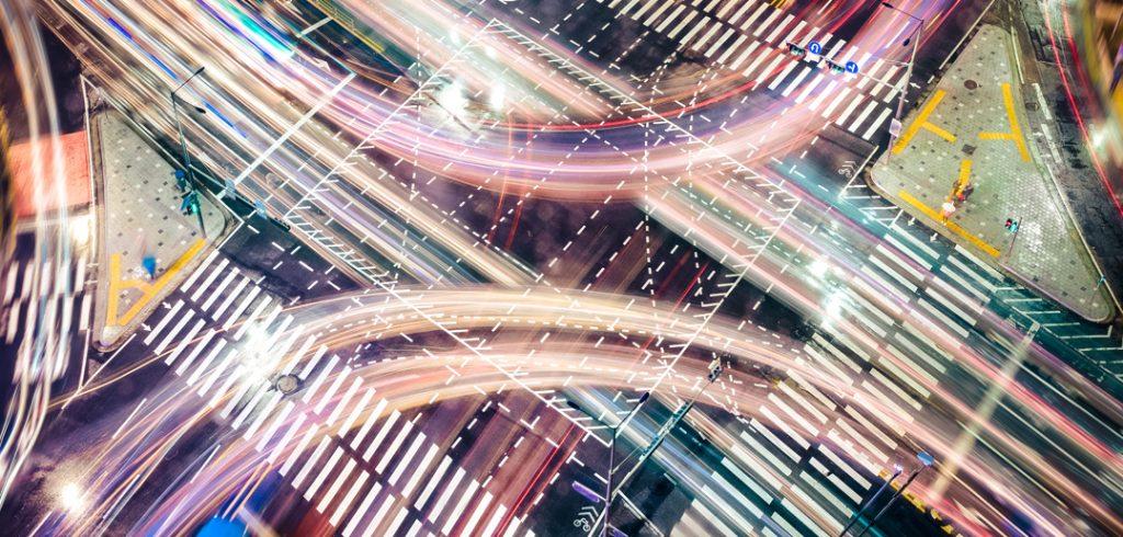 illustration of electronic pathways