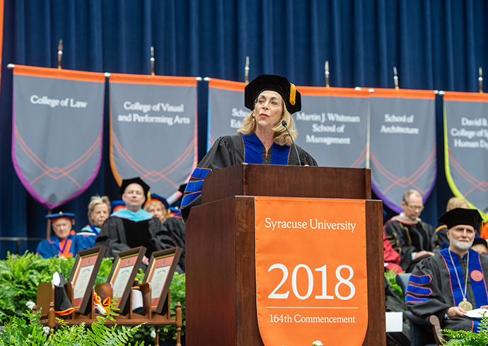 Syracuse University 2018 Commencement speaker Kathrine Switzer '68, G'72