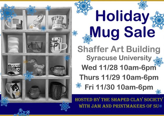 Shaped Clay Society Holiday Mug Sale flyer