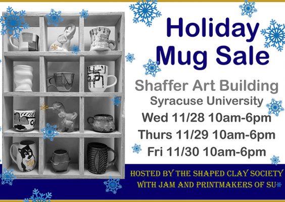 Shaped Clay Society Holiday Mug Sale flyer