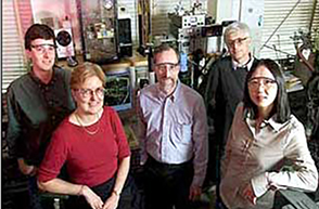 Reichmanis (second from left) at Bell Labs, c. 2002.