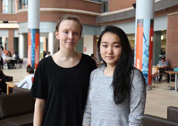 Kalia Zizi Barrow '17 and Ruby Batbaatar '19