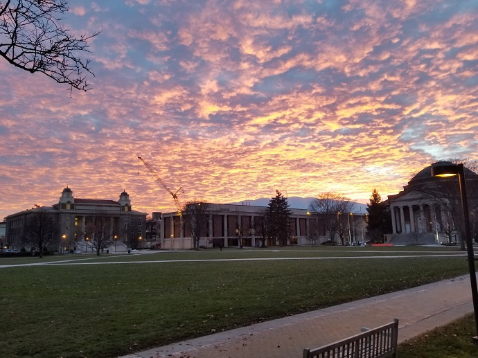 sunset over Quad