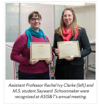 Assistant Professor Rachel Ivy Clarke and M.S. student Sayward Schoonmaker.