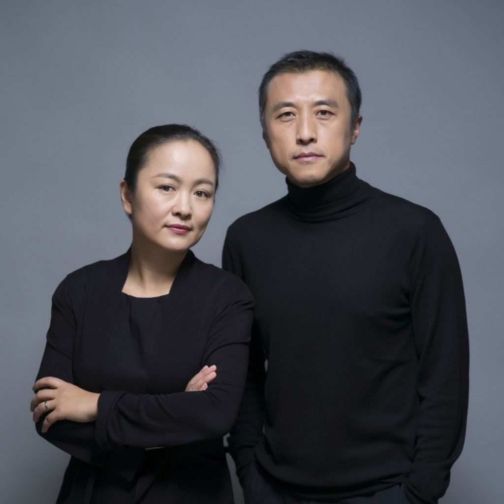 two people standing