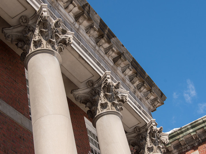 Maxwell Hall's columns