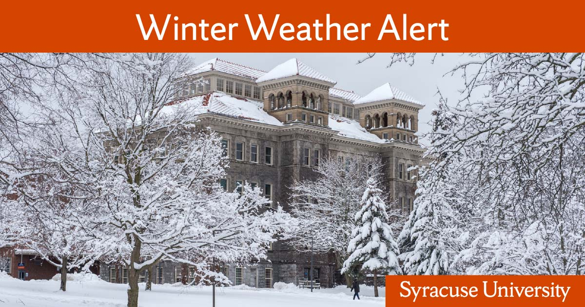 University Monitoring Winter Weather and Travel Conditions for
