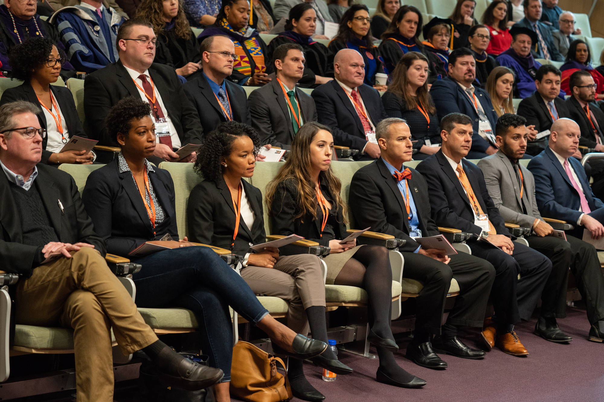 The inaugural JDinteractive class attending the Jan. 7 convocation ceremony in the Melanie Gray Ceremonial Courtroom and listening to remarks by Assistant U.S. Attorney for the Northern District of New York Adam J. Katz L'04.
