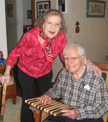 Thelma Bonzek '43 and Bob Newman