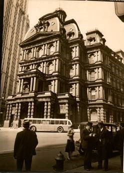 old photo of city building