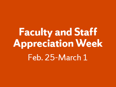 Faculty and Staff Appreciation Week graphic