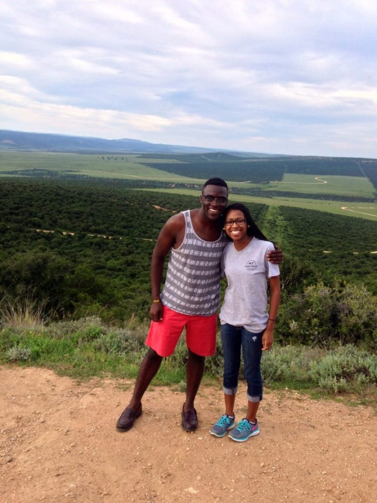 Inkululeko Board Secretary Ronald Taylor '15, G'16 and Board Chair Nicole Osborne '14 in South Africa.