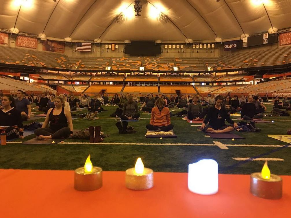 people doing yoga in Dome