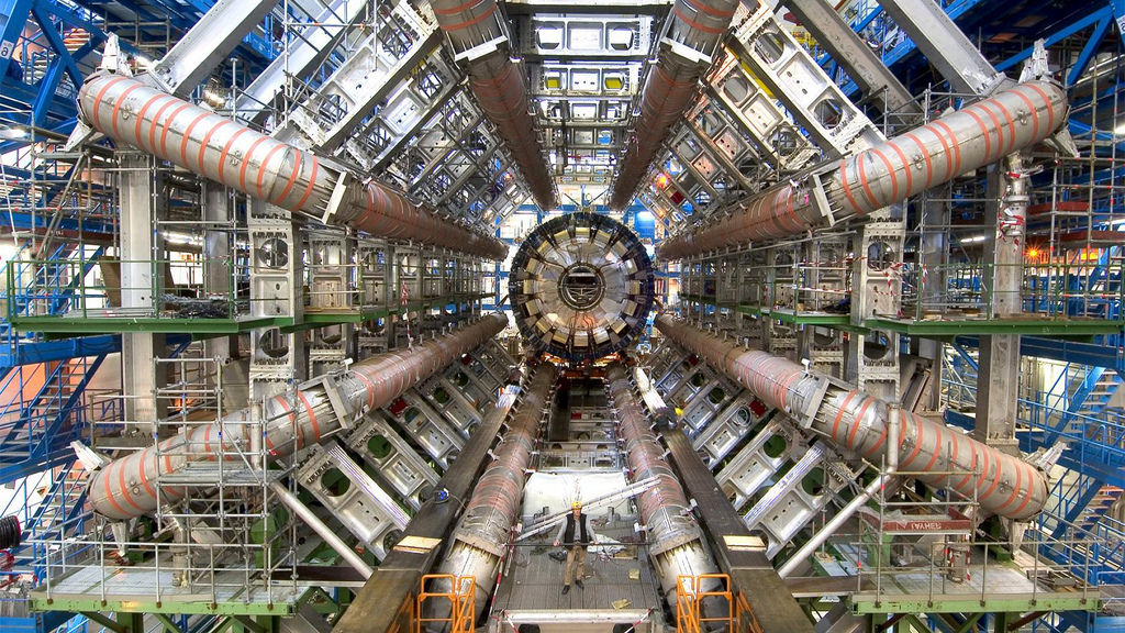 The Large Hadron Collider (LHC) in Switzerland is the world's biggest, most powerful particle accelerator.