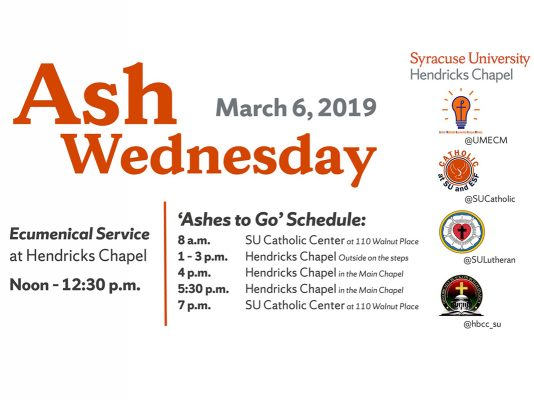 "Ash Wednesday ""Ashes to Go"" schedule"