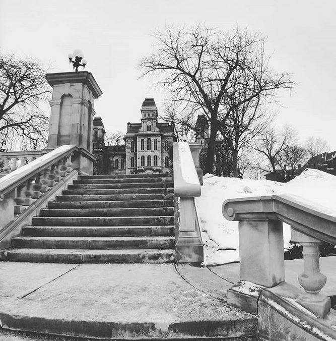 steps leading to Hall of Languages