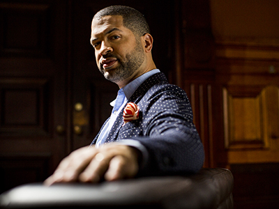 "Pianist Jason Moran will perform in Hendricks Chapel on April 5. ""He personifies the relevance of jazz culture,"" Blumenfeld says."
