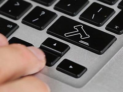 fingers touching keyboard