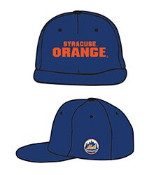 Front and side views of commemorative baseball cap