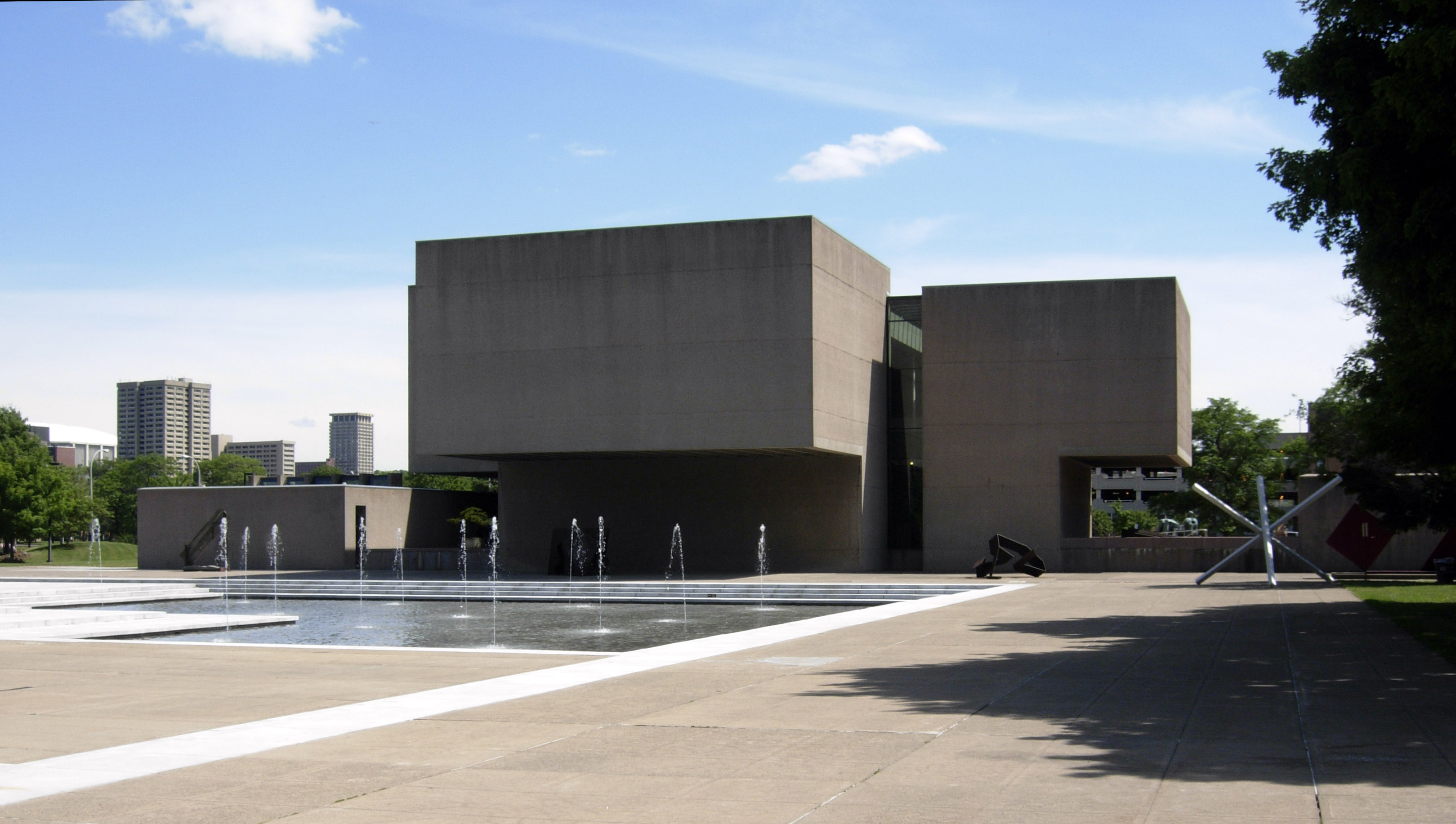Exterior view of the Everson Museum of Art