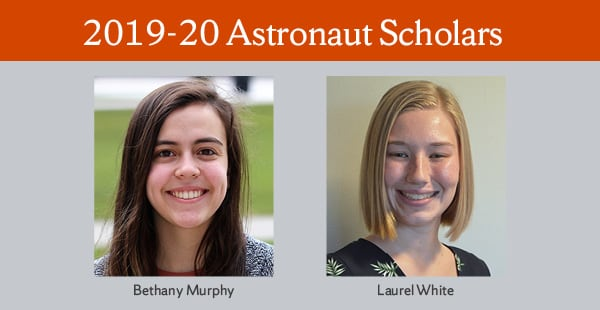 Astronaut Scholars graphic showing two young women