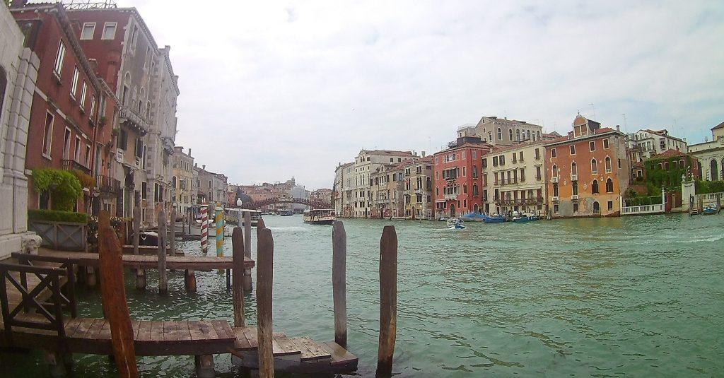 Waterway and buildings