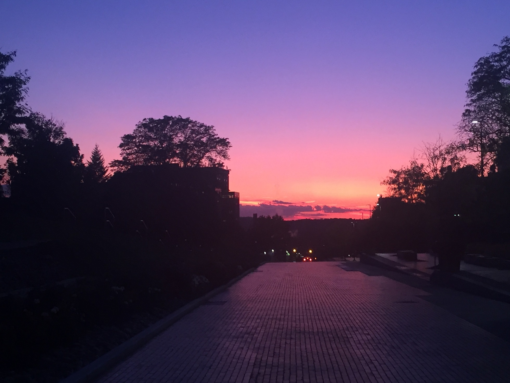 sunset over Einhorn Walk