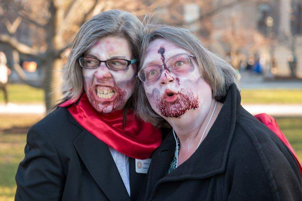 two women in zombie makeup
