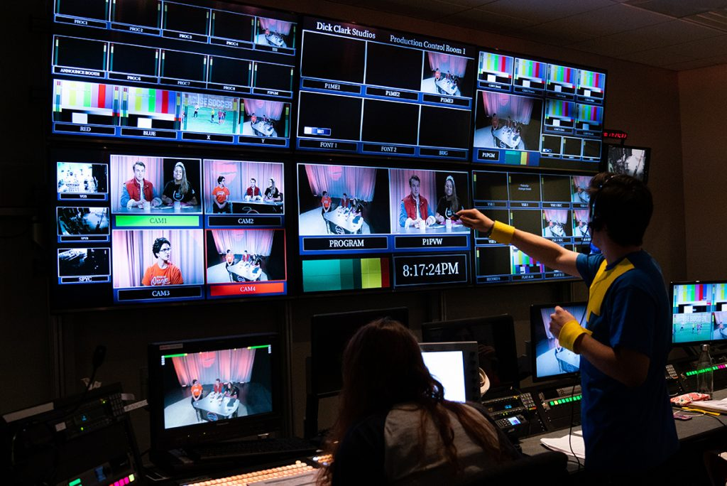 Behind the scenes in the control room