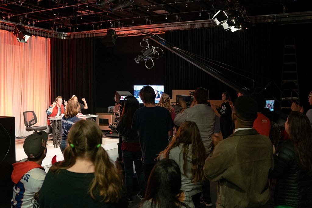 Audience in TV studio
