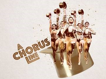 graphic of people dancing next to words A Chorus Line