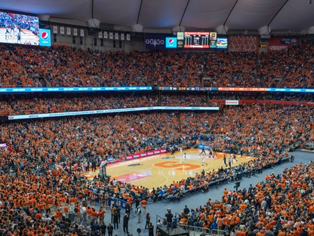 Basketball game in the Dome