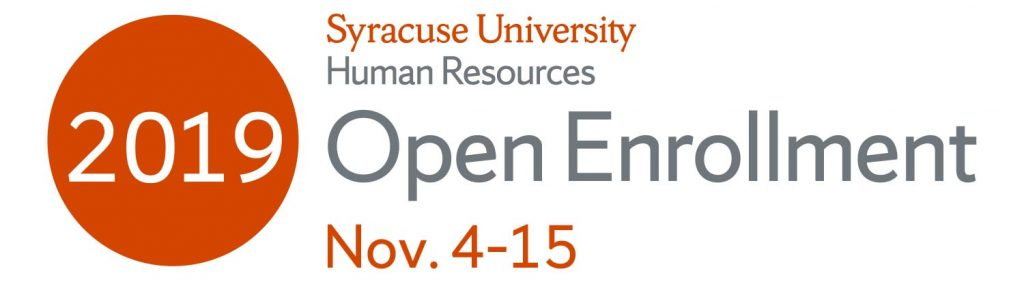 Syracuse University Open Enrollment Nov. 4-15, 2019