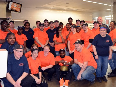 Ernie Davis Dining Hall staff