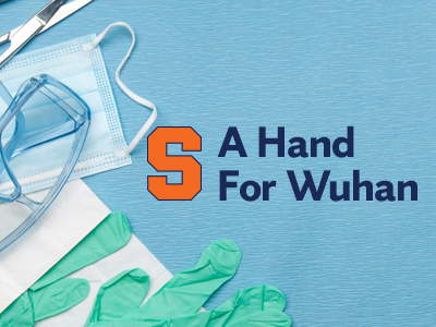 Hand for Wuhan graphic